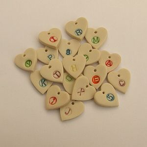Personalised Handmade Heart Pendants