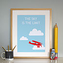 'The Sky is the Limit' Print Framed