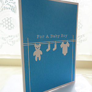 Personalised Baby Washing Card