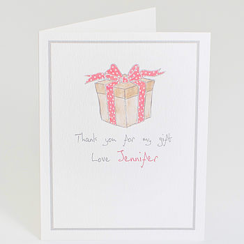 Personalised 'Thank You For My Gift' Card