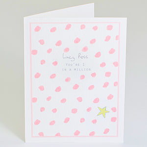 Personalised 'You're 1 In A Million' Card