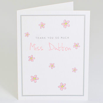 Personalised 'Thank You So Much' Card