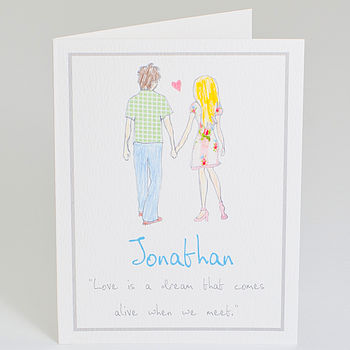 Personalised 'Love Is A Dream' Card