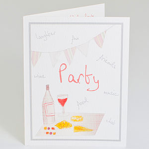 Personalised Red Party Invitation