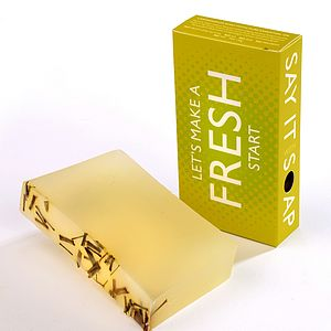 'Let's Make A Fresh Start' Handmade Soap