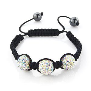 Three Ball Crystal Friendship Bracelet - bracelets & bangles