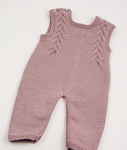 Handmade Organic Dungaree/Cardigan For Boys Or Girls - babygrows