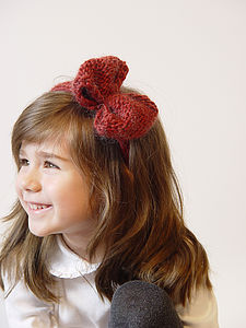 Handmade Merino Bow Hairband