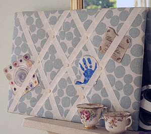 Duck Egg Blue Noticeboard - storage & organisers