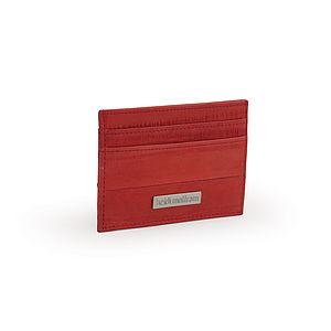 New Eel Skin Flat Card Wallet - passport & travel card holders