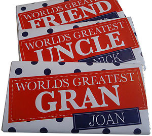 Personalised 'World's Greatest' Chocolate Bar - food & drink gifts
