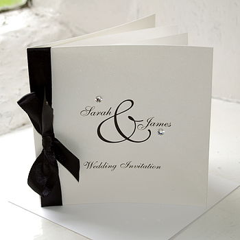 Diamante Wedding Invitation