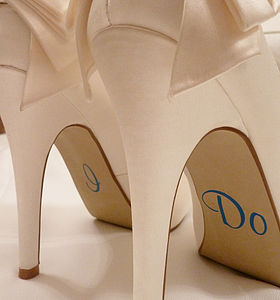 Personalised Wedding Shoe Stickers - wedding fashion