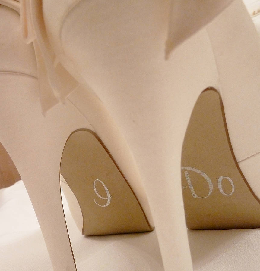 Personalized Stickers For Wedding Shoes