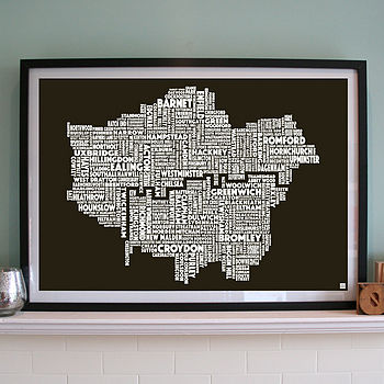 London Screen Print black