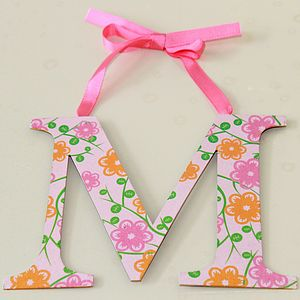Metal Hanging Letter - baby's room