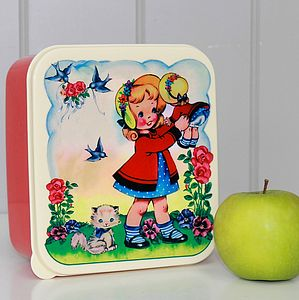 Retro Dolly/Circus Parade Lunch Box - lunch boxes & bags