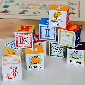 Vintage Alphabet Blocks - keepsakes