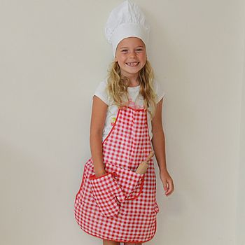 Apron, Hat And Glove Set