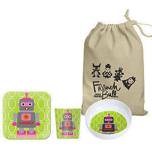 Child's Robot Melamine Tableware Set - kitchen