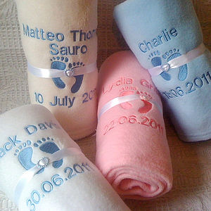 Personalised Baby Blankets - baby care