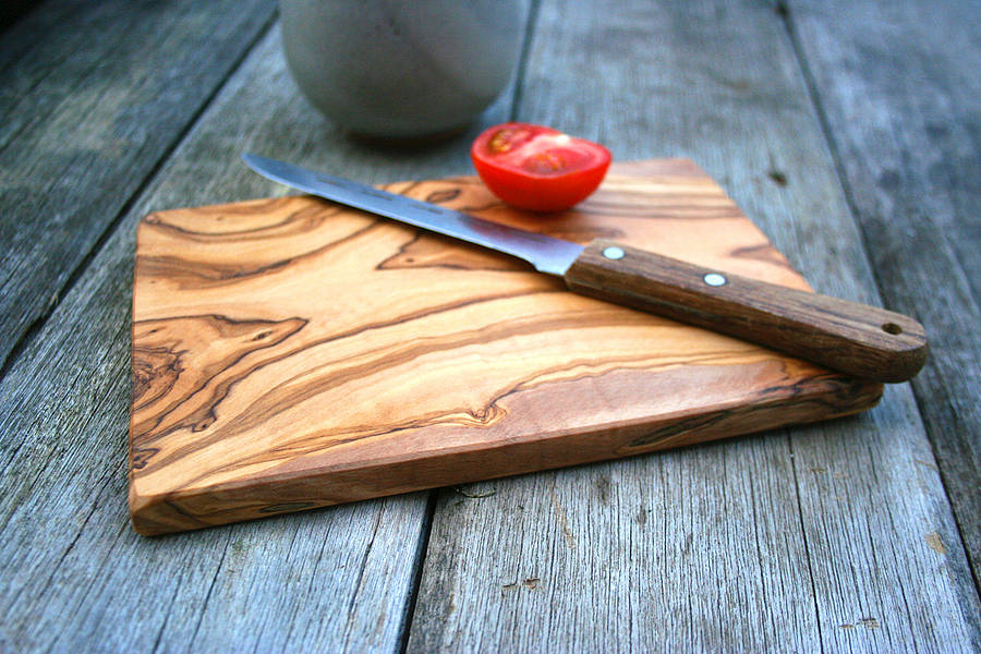 Wooden Cheese Boards ~ Olive wood chopping cheese board by the rustic dish