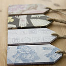 Personalised Wooden Gift Tag Set Of Three