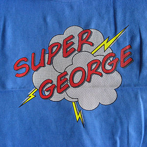 Personalised Superhero T Shirt Or Bodysuit - children's clothing