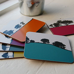 Rural Landscape Coasters Set - placemats & coasters