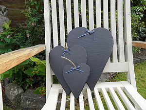 Slate Heart Decoration - room decorations