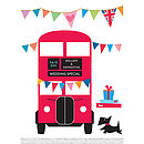 Personalised Wedding Bus Print