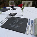 Set of Two Slate Square Place Mats