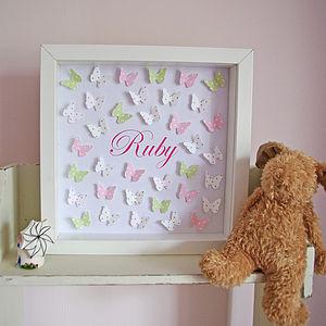 Polka Dot Paper Butterflies Art - flower girl gifts