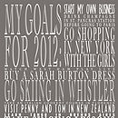 Personalised New Year's Resolution Print