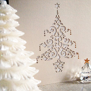 Laser Cut Christmas Cards - cards & wrap