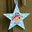 Little Boys Pirate Bear Star Shaped Door Sign