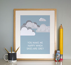 'You Make Me Happy' Love Print - children's room