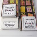 Chocolate Bookmark, Set Of Five, With Colourful Designs