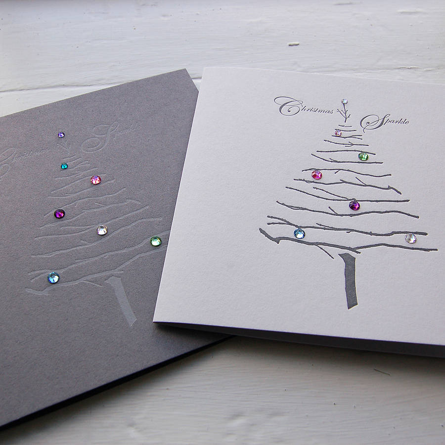 Why Do We Have Christmas Trees For Christmas: Letterpress Crystal Trees Christmas Cards By The Art Rooms