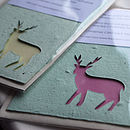 Small Plantable Reindeer Christmas Card