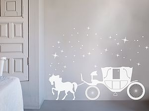 Enchanted Horse Carriage - wall stickers