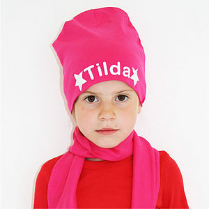Personalised Girl's Star Beanie Hat - children's accessories