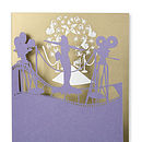 Lights Camera Action Greetings Card in Regal Blue and Gold