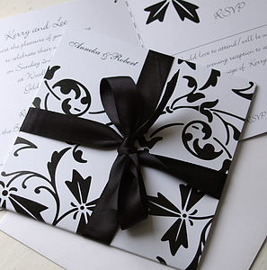 Black And White Stationery Collection - invitations