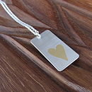Personalised Treasure Tag Pendant Loveheart