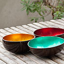 Coco Bowls in Gold, Cherry and Dark Green