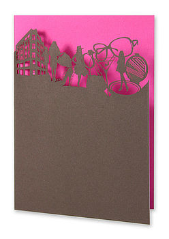 Shopaholic Laser Cut Greetings Card