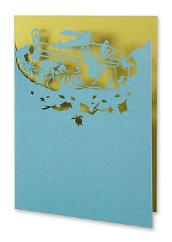 Extreme Sport Greetings Card in Teal and Moss