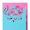 Extreme Sport Greetings Card in Tabriz and Hot Pink