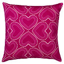 Heart Print Cushion